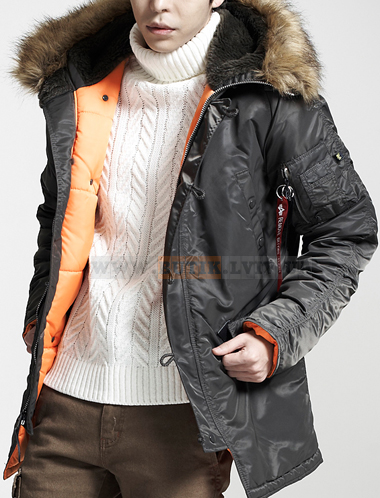 Slim Fit N-3B Parka Replica Grey