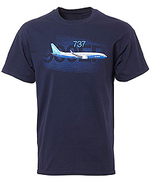 Футболка Boeing 737 Graphic Profile T-shirt
