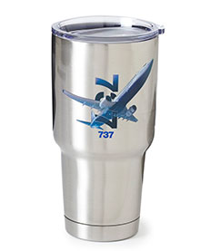 737 X-Ray Graphic Stainless-Steel Tumbler