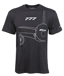 Футболка Boeing 777 Midnight Silver T-Shirt