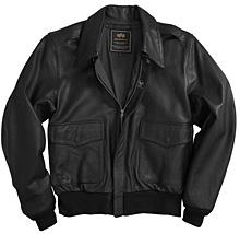 Шкіряна льотна куртка A-2 Goatskin Leather Jacket Alpha Industries (чорна) caadef45e90d7