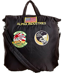 Сумка Alpha Industries Helmet Bag With Patches (чорна)