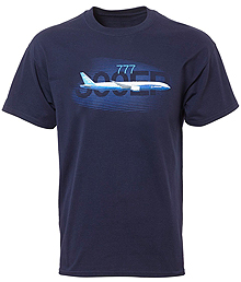 Boeing 777 Graphic Profile T-shirt