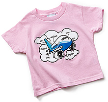 Дитяча футболка Boeing Airplane Parts Toddler (pink)