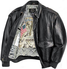 Шкіряна куртка Cockpit Antique Lambskin Leather A-2 Flight Jacket (чорна)