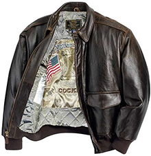 Шкіряна куртка Cockpit Antique Lambskin Leather A-2 Flight Jacket (коричнева)