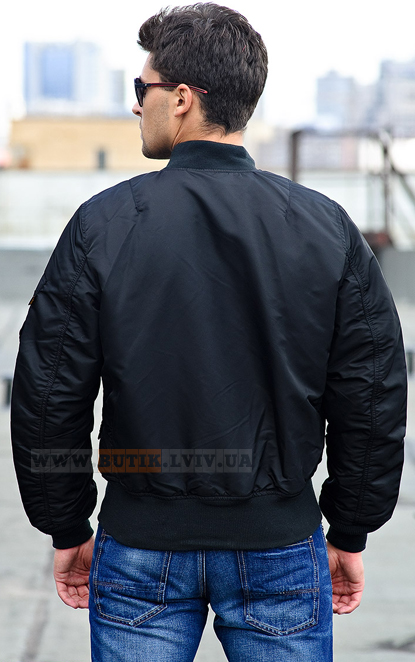 Black МА-1 Bomber Jacket Alpha Industries