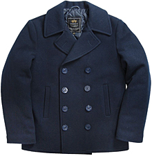 Navy Pea Coat Alpha Industries (синє)