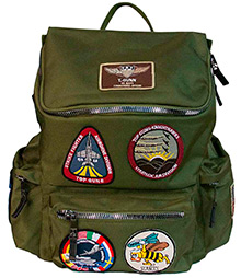 Рюкзак Top Gun backpack with patches (оливковий)