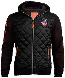 Куртка-реглан Top Gun Quilted Fleece Hoodie with Patches (чорна)