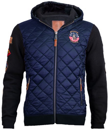 Куртка-реглан Top Gun Quilted Fleece Hoodie with Patches (синя)