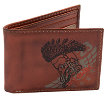 Шкіряний гаманець Top Gun Embroidered Sky Chief Leather Trifold Wallet